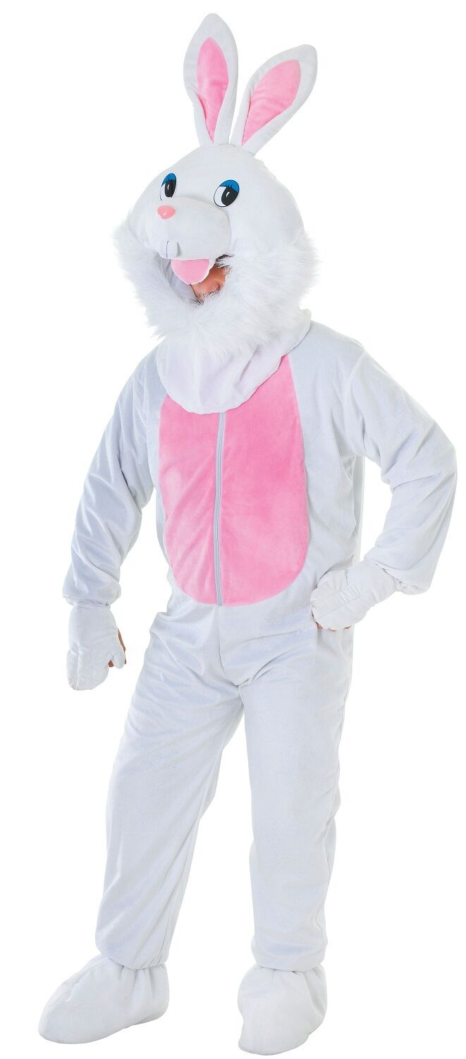 Homme femme mal blanc pâques lapin bunny halloween fancy dress costume outfit