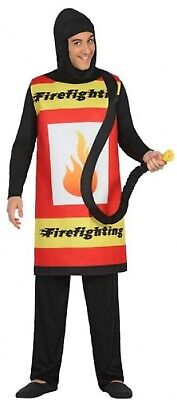 Mens Fire Extinguisher Fireman Funny Stag Do Comedy Fancy Dress Costume Outfit  - Mens Fireman Outfit