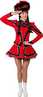 Damen Zirkusdirektor Rot Tanz Truppe Majorette Kostüm Kleid - Majorettes Kostüme