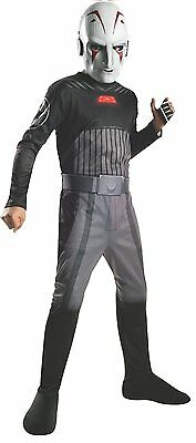 Sith Inquisitor Costume (NEW Star Wars Sith Inquisitor 2pc Mask & Jumpsuit Costume Fits 8-10)