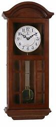 Wooden Silent Wall Clock Pendulum Ornate Modern Traditional 27 11.5 4.75