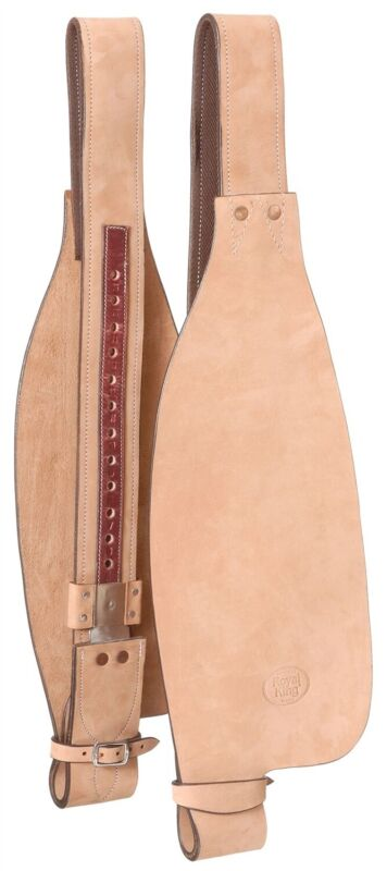 Youth Western Saddle Replacement Roughout Leather Fenders - 22 Inches