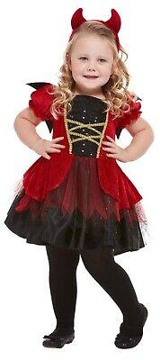 Mädchen Kleinkind Süß Rot Teufel Halloween Kostüm Kleid - Kleines Mädchen Teufel Kostüme