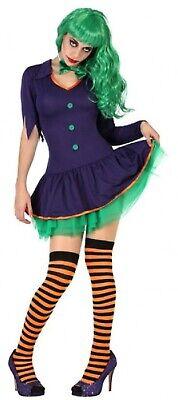 Damen Lila Grün Lustig Bösewicht Gruselig Halloween Kostüm UK - Gruselig Lustige Kostüm
