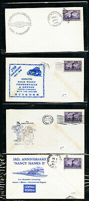 US Stamps Lot of 29 Various Vintage Train + RPO Cachet Covers