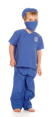 Children's Kids Boys Girls Male Nurse Medic Doctor Surgeon Fancy Dress Costume