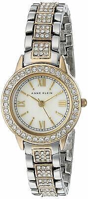 *NEW* Anne Klein Women's w/ Swarovski Crystal Accented Two-Tone Watch AK/1493