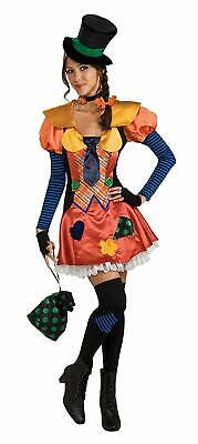 Hobo Clown Circus Orange Patches Fancy Dress Up Halloween Deluxe Adult Costume