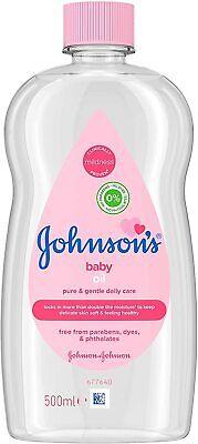 JOHNSON'S BABY Oil 500ml Bottle Kids Babies Dry Skin Bath Massage Daily Care NEW