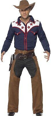 Herren Modern Rodeo Cowboy Wilder Westen Hirsch Do USA Kostüm Kleid Outfit M L