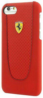Ferrari Pit Stop iPhone 7 Plus Carbon Hard Case Black Trim - Red