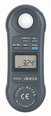Reed Lm-81lx Compact Digital Light Meter 2000 Fc 20000 Lux