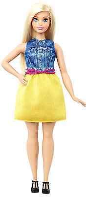 $9.42 - Barbie Fashionistas Doll 22 Chambray Chic Curvy Blonde Dolls Girls Gift Toys