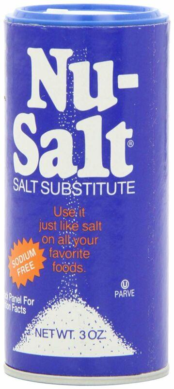 Nu Salt - Salt Substitute Sodium Free - 3 Ounce (Pack of 12)
