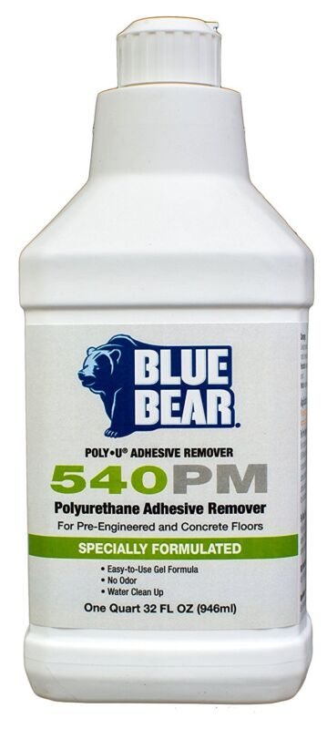 Blue Bear BBIPYQT 540PM Polyurethane Adhesive Remover - 1 Quart