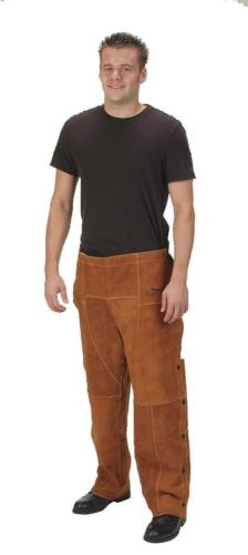 """CONDOR 4KXH6 Welding Chaps, Brown, Leather, 29"""" Long"""