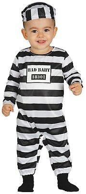 Sträfling Gefangener Halloween Kostüm Kleid Outfit 6-18 (Baby Sträfling Kostüm)