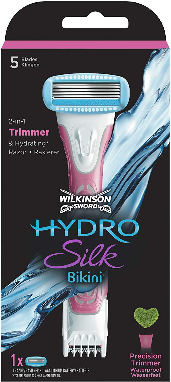 Wilkinson Sword Hydro Silk Bikini Damen Rasierer Trimmer 1 Rasierklinge Set