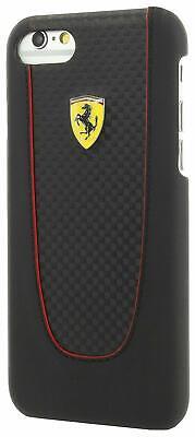 Ferrari Pit Stop iPhone 7 Plus Carbon Hard Case Red Trim - Black