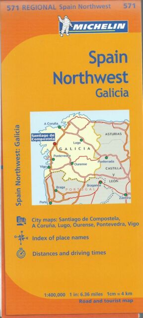 Michelin Spain Northwest: Galicia Map *IN STOCK IN MELBOURNE - NEW*