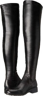 Sam Edelman Women Over The Knee Boots Remi Black Leather  Size 7 M NIB