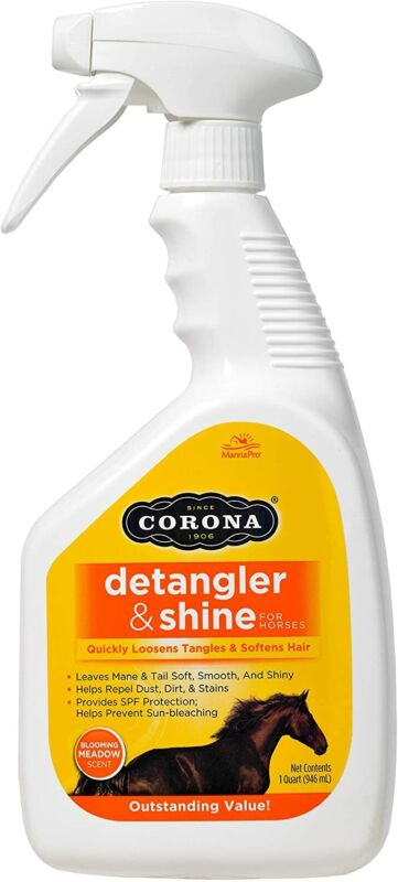 Manna Pro Corona Detangler & Shine Conditioner for Horse, 32 oz