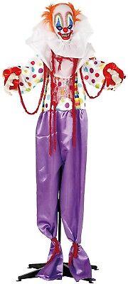 1.8m M Animierte Lichter Ton Bewegung Terror Clown Halloween Party Dekoration ()