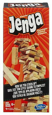 Block Building Games (Jenga Classic Game Stacking Tumbling Tower 52 Wooden Building Blocks Family)