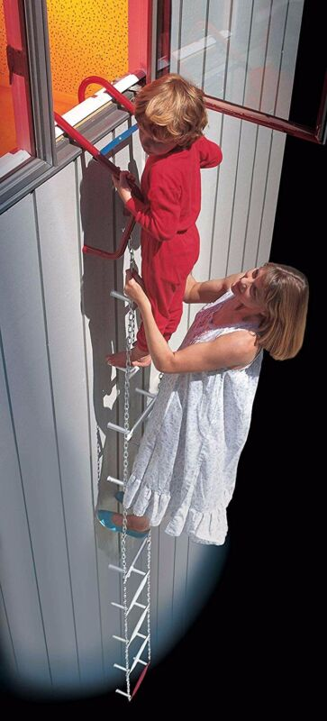 Price Drop!! QuickEscape Fire Escape Ladder, 12 ft, 2 Story Portable Emergency