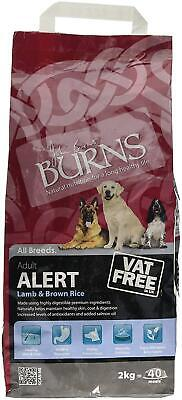 Burns Alert Complete Dry Adult Senior Dog Food Lamb and Brown Rice Pets Feed 2kg