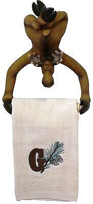- Hand Towel holder Moose Kitchen Rack bathroom cabin log home decor 4054