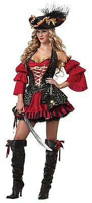 Spanish Woman Costume (ADULT WOMENS SPANISH PIRATE SEA OCEAN SHIP SEXY WENCH HALLOWEEN COSTUME)