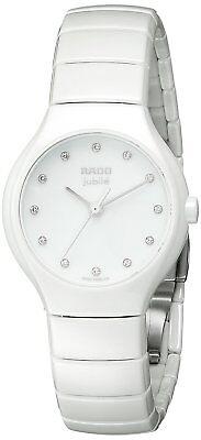 Rado True Jubile SWISS Diamond White Dial Ceramic Ladies Watch R27696762
