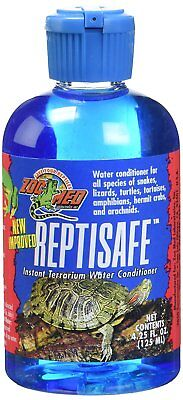 Zoo Med ReptiSafe Instant Terrarium Water Conditioner 4.25 oz for Reptile Bowls Terrarium Water Conditioner