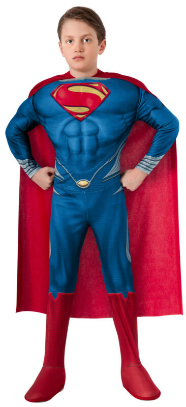 Children Boys Superman Muscle Chest Costume 10-12 Large