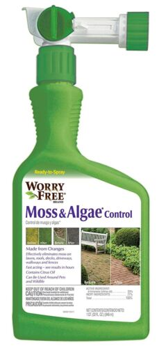 Lilly Miller Worry Free Moss and Algae Control Ready to Spray, 1-Quart
