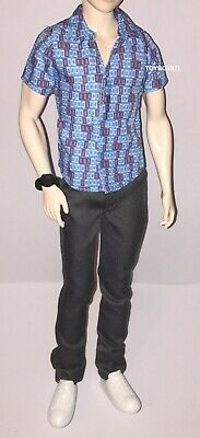Barbie Spy Squad Ken Doll Outfit Blue Shirt Jeans Watch Shoes NEW Fashionistas - Spy Outfits