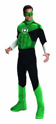 Deluxe Green Lantern Costume (Green Lantern DC Comics Superhero Fancy Dress Up Halloween Deluxe Adult)
