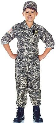 Us Army Costumes (US Army Camo Child Costume w/)
