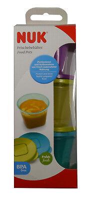 NUK Fresh foods Frischebehälter Babynahrung Gefrierdosen Aufbewahrungsdosen