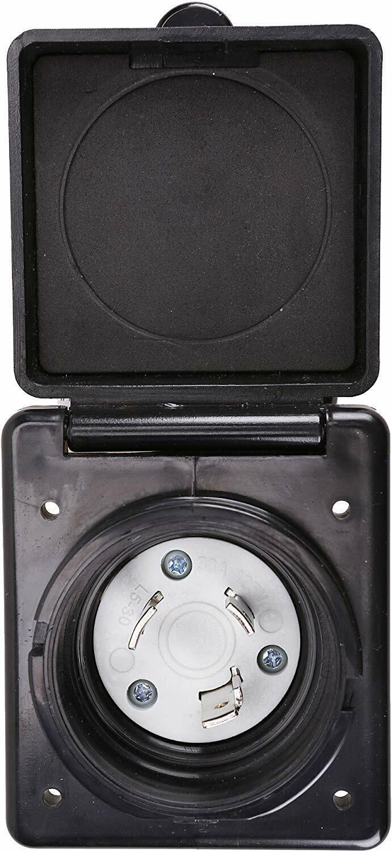 RV Power Inlet 125V 30 AMP Power Plug Twist Lock Inlet 3 Stainless Steel Pins eBay Motors
