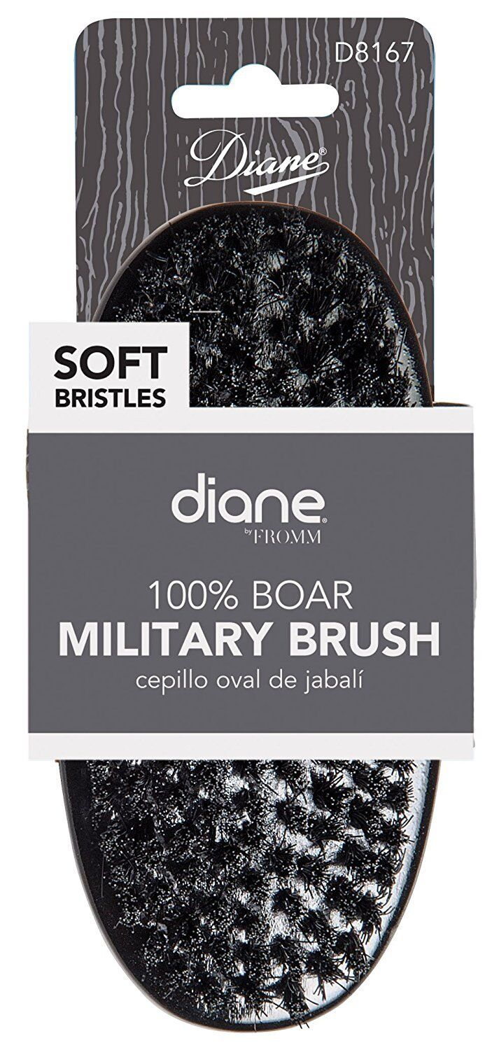 DIANE BY FROMM - 100% BOAR SOFT WAVE MILITARY PALM BRUSH, BL