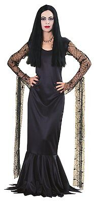 Morticia Addams Family Gothic Vampire Witch Dress Up Halloween Adult Costume](Costume Halloween Morticia Addams)