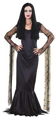 The Addams Family Morticia Costume Long Blk Mermaid Style Costume Dress - The Addams Family Costumes