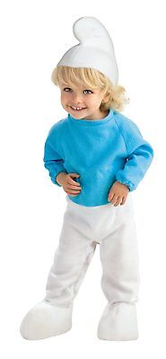 Rubies Costume The Smurfs 2 Smurf Romper and Headpiece, Blue/White, Infant