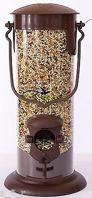 EzOne Squirrel Proof Hanging Bird Feeder for Wild Birds | Seed | 2-Station Feed