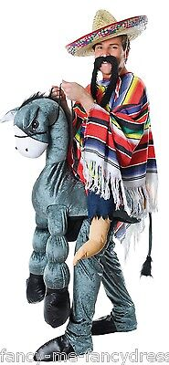 Mens Step in Ride On Mexican Donkey Wild West Cowboy Fancy Dress Costume Outfit  sc 1 st  eBay & Mens Step in Ride On Mexican Donkey Wild West Cowboy Fancy Dress ...