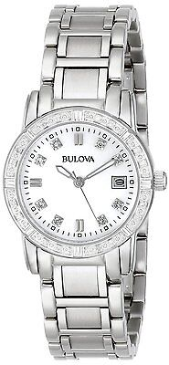 Bulova Women's 96R105 Diamond-Accented Silver Tone Stainless Steel Watch