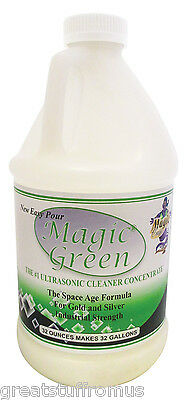 Magic Green Gold & Silver Ultrasonic Cleaning Powder - 32 oz - Makes 32 Gallons
