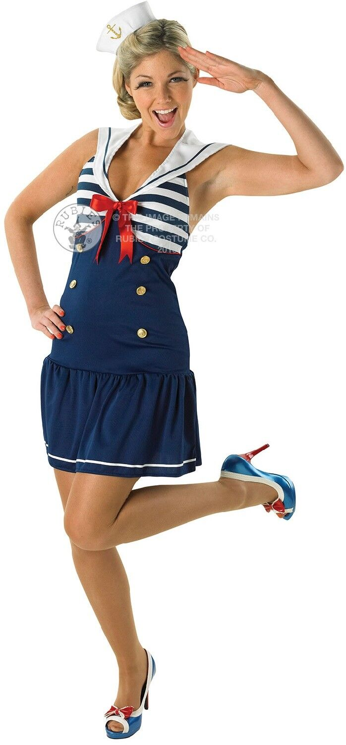 0344c7a48823 Ladies Sexy Sailor Girl Navy Wren Carnival Hen Party Fancy Dress Costume  Outfit